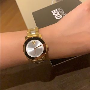 Movado Bold Two Tone Watch